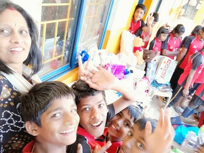 Sharing Giggles and Goodies at Sneha Care Home