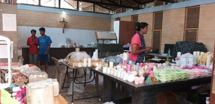 Candle-making moulds for Sneha inmates